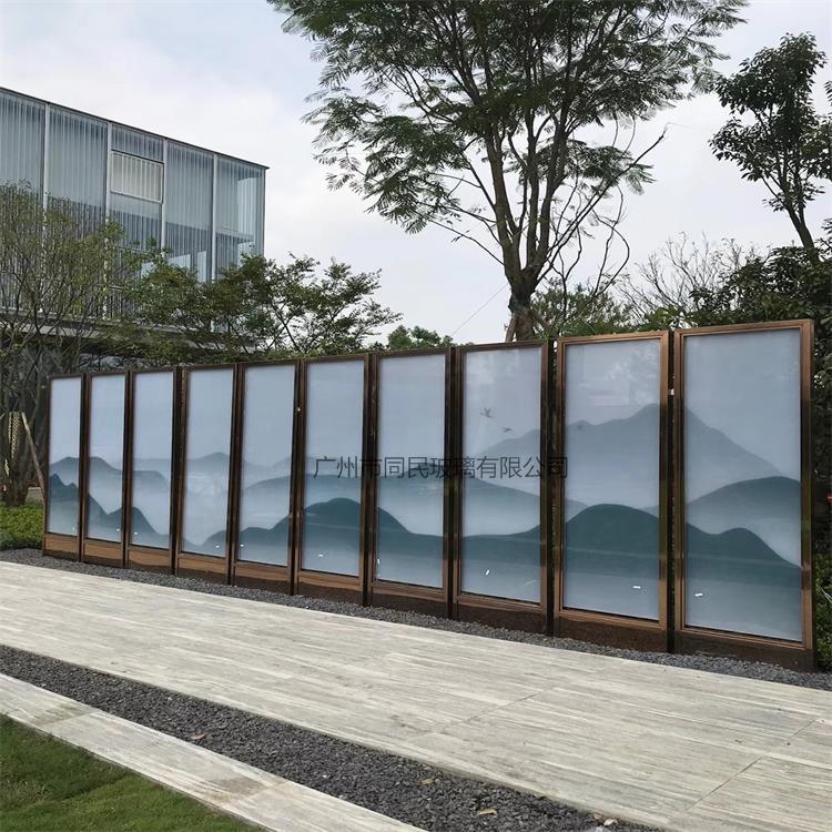 夹山水画玻璃